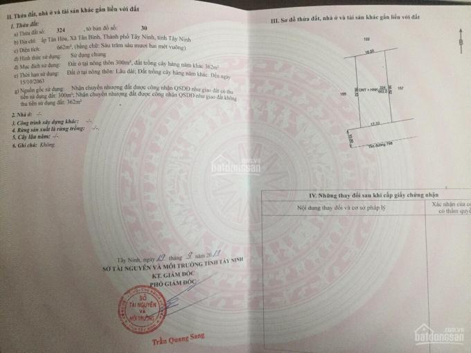 Đất sổ đỏ 662m2(17x39) mặt tiền Trần Văn Trà, TP. Tây Ninh ảnh 0