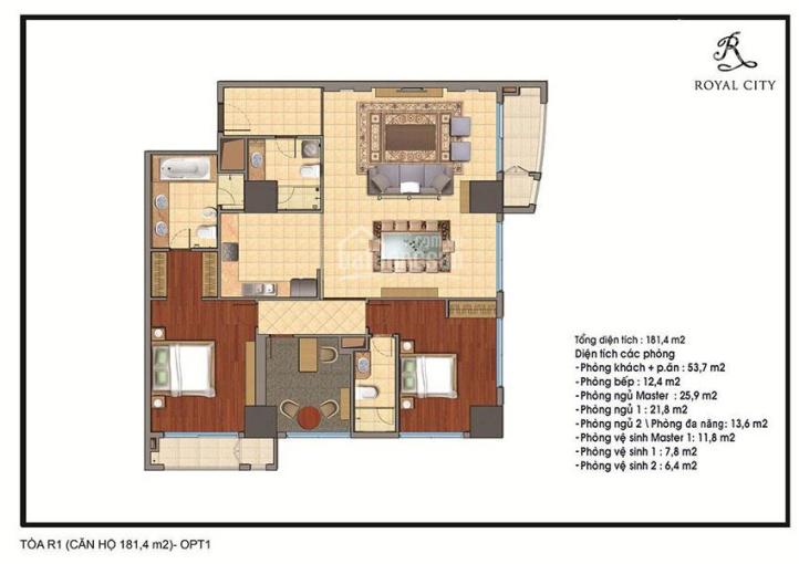 Bán cắt lỗ 2 căn góc 3pn Royal City R1 - 01, R1 - 02 (181,4m2), giá 8tỷ/căn. LH 0889.844.511 ảnh 0