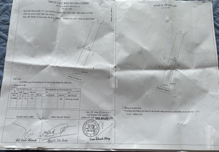 448m2 đường Tân Thành 29 - Xã Tân Thành - Tân Uyên. Đường đã lên nhựa, giá 2 tỷ 1, dân cư đông ảnh 0