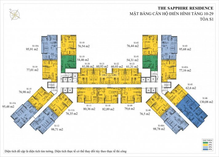 Chính chủ cần bán lại căn 1 PN toà S1 chung cư Sapphire Bến Đoan. Giá 1,6 tỷ, LH 0339611188 ảnh 0