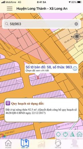 Bán đất khu dân cư An Thuận, xã Long An, Long Thành, Đồng Nai. Dt 5mx18,5m. Full thổ cư. ảnh 0