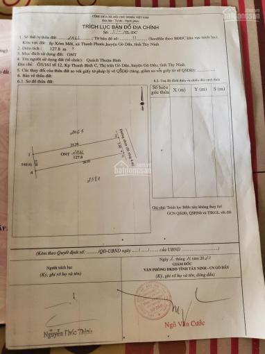 Bán đất mặt tiền nhựa ngang 5x25,2m - thổ cư hết đất tại Gò Dầu - Tây Ninh giá 445 tr LH 0969543514 ảnh 0