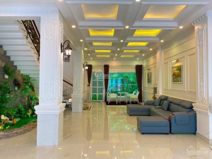 Biệt thự ven sông liền kề Phú Mỹ Hưng 7x18m 4 lầu đối diện đại học RMIT, nội thất hoàng giá cao cấp ảnh 0
