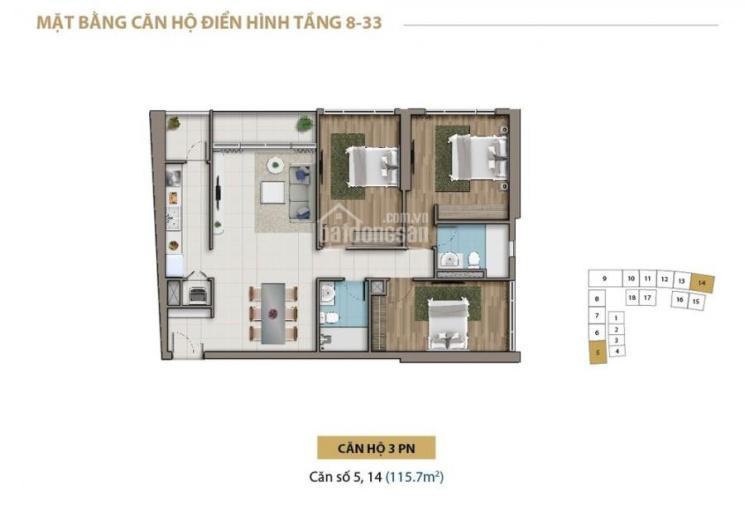Chủ nhà kẹt tiền bán lỗ căn Saigon Royal 117m2, 3PN, View Q1, Bitexco. Giá chỉ 9.5tỷ, LH 0941190000 ảnh 0