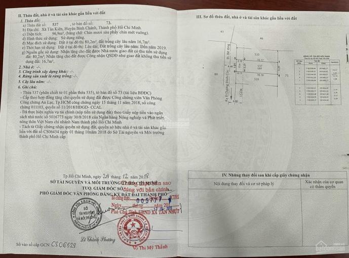 Bán đất nền Bình Chánh - đường Dương Đình Cúc, xã Tân Kiên ảnh 0