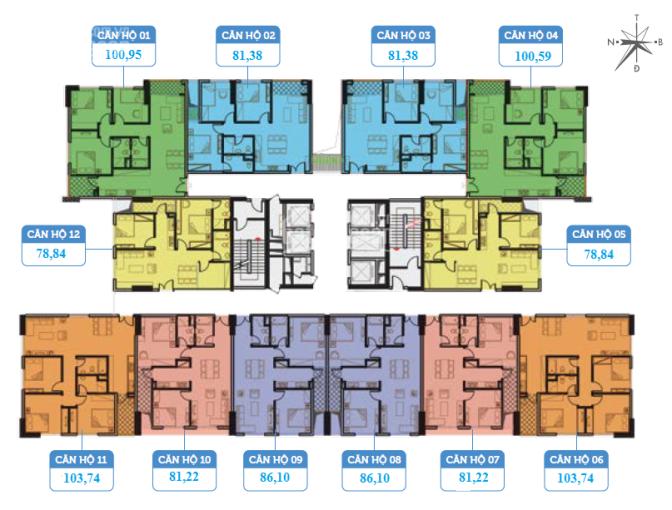 Cần bán gấp căn hộ 2PN 79m2 ban công Nam dự án Smile Building số 1 Nguyễn Cảnh Dị, LH 0978079652 ảnh 0