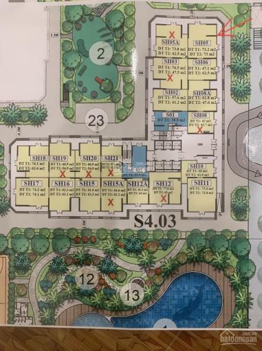 Bán shophouse chân đế tòa S4, diện tích 125m2, dự án Vinhomes Smart City Đại Mỗ giá 12.5 tỷ ảnh 0