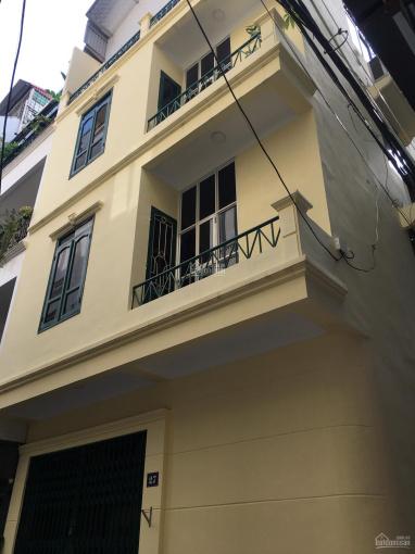 Cho thuê nhà riêng phố Tôn Thất Thiệp, DT 70m2 x 4 tầng, MT 6m, ngõ ô tô, nhận ngay, giá 20tr/th ảnh 0