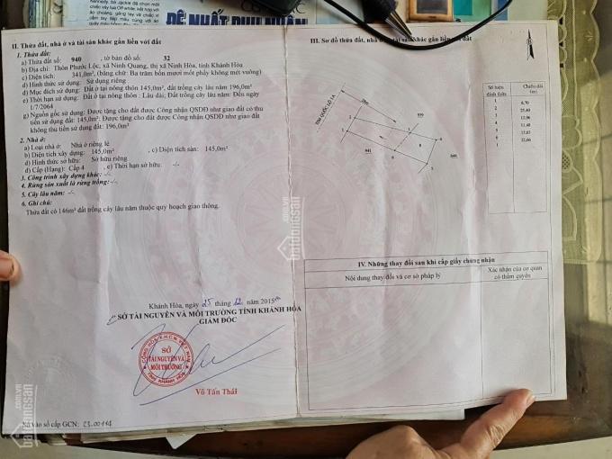 Nhỉnh 2 tỷ, cần bán nhanh căn nhà ngay mặt tiền QL1A Xã Ninh Quang, TX Ninh Hòa, sổ đỏ chính chủ