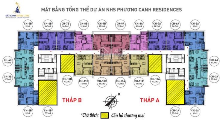 Vợ chồng tôi cần bán gấp căn 1602A CC NHS Phương Canh, diện tích 59m2, giá 18tr/m2. LH 0961 000 870 ảnh 0