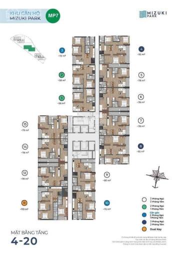 Bán Mizuki Park giai đoạn 2, Căn hộ 56m2 thiết kế 2PN, 1WC , giá 2,3 tỷ ảnh 0
