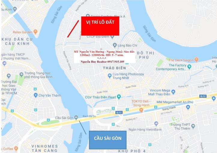 Cho thuê nguyên lô 2MT Nguyễn Văn Hưởng - DT: 1.200m2 - Giá: 100 - 300tr/th ảnh 0