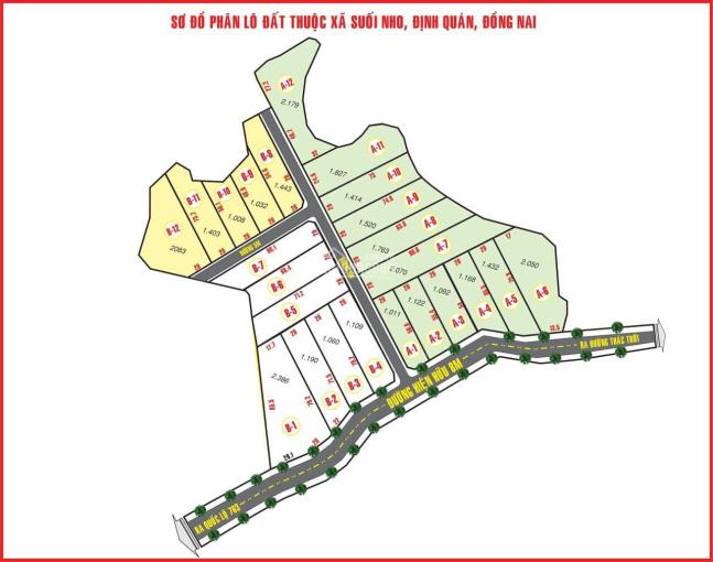 Bán đất 1000m2 hẻm xe hơi Quốc Lộ 763, Định Quán, Đồng Nai, giá 500 triệu, LH: 0934830519 ảnh 0