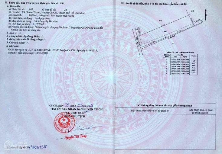 1000m2 đất trồng cây giáp ranh Xã Thái Mỹ, giá 1tỷ830triệu ảnh 0