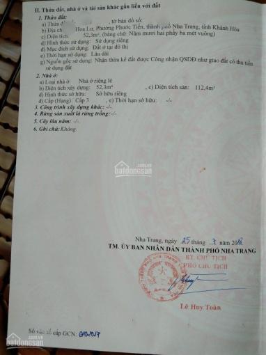 Bán nhà mặt tiền Hoa Lư Phước Tiến ngang 5.3m sát Võ Trứ giá 5 tỷ trung tâm thành phố Nha Trang ảnh 0