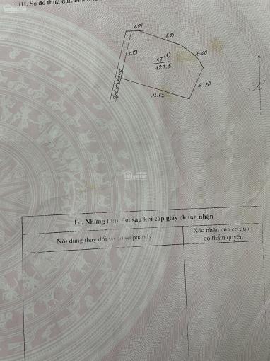 Bán 127.5m2 đất Ngũ Hiệp - Thanh Trì - giá: 35 triệu / m2 ảnh 0