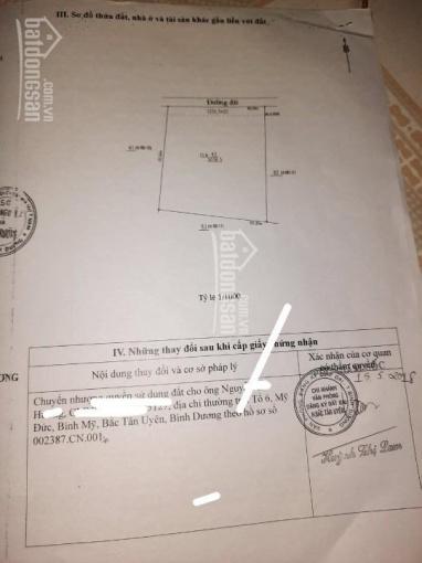 Tôi cần bán lô đất tại thị trấn Tân Thành, Bắc Tân Uyên, giá chỉ hơn 3 triệu/m2 ảnh 0