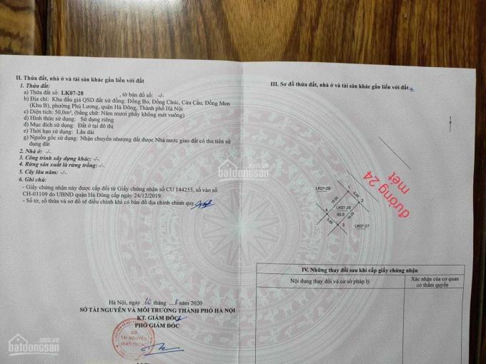 Chính chủ bán đất dịch vụ Đồng Bo Phú Lương 2 mặt đường 24m ảnh 0