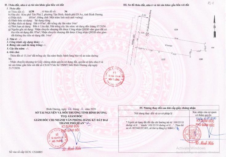 Chính chủ bán rẻ nhà 3PN, pháp lý rõ ràng, SHR thổ cư, cách chợ Tân Bình-Dĩ An 50m, đường ô tô vào ảnh 0