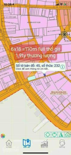 Bán lô đất một xẹt Hùng Vương, Phú Đông, Nhơn Trạch, Đồng Nai. Diện tích 6mx18m. Full thổ cư. ảnh 0