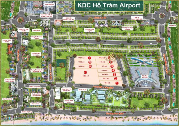 Bán đất sân bay Lộc An Hồ Tràm - chỉ 500tr đã có ngay 1 nên đất - ngân hàng hỗ trợ 50% - 0933115593 ảnh 0