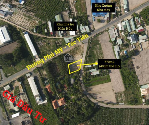 Bán đất thị xã Phú Mỹ, 770m2, trục chính 30m đường Phú Mỹ, Tóc Tiên ảnh 0