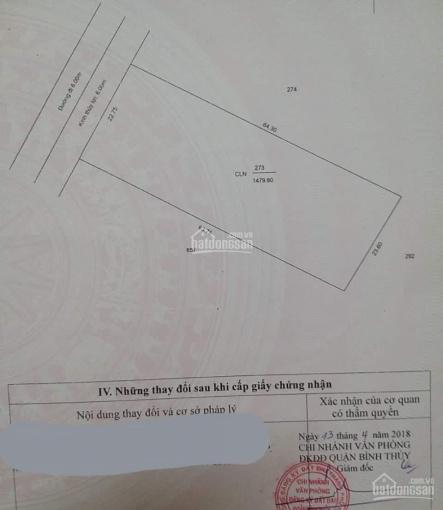Bán nền (ngang 22m - dài 64m) mặt tiền Nguyễn Viết Xuân, Bình Thủy, Cần Thơ ảnh 0