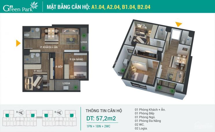 Bán căn hộ 2PN 2WC, 2 ban công, giá 1.71 tỷ. Liên hệ xem nhà 0888099898 ảnh 0