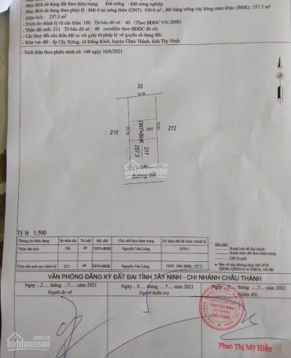 Đất bán 10x26m chợ Cầy Xiêng Châu Thành, TP Tây Ninh ảnh 0