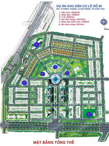 Bán đất Đẹp 5 cạnh mặt tiền Quốc Lộ 1A và kề KDC Hưng Phú, P. Hưng Thạnh, Q. Cái Răng, TP Cần Thơ ảnh 0
