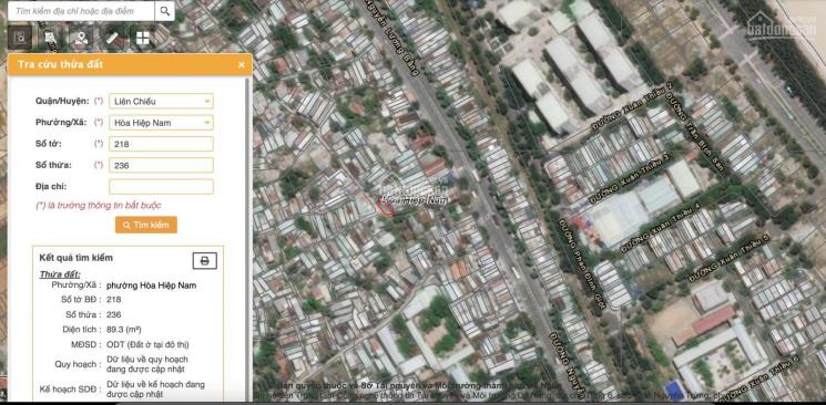 Bán đất 2 mặt kiệt ô tô đường Nguyễn Lương Bằng - 89.3m2 - giá 1,57 tỷ. Sổ đỏ chính chủ ảnh 0