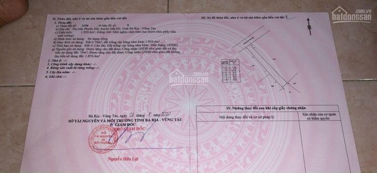 Bán lô đất mặt tiền đường Bùi Công Minh, DT 3.866m2 TT Phước Hải - H Đất Đỏ - Bà Rịa - Vũng Tàu ảnh 0