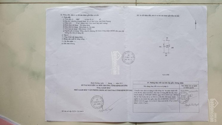 Bán đất sổ đỏ rẻ hơn sổ chung 97m2 TC 60m2. 840 triệu tại Khánh Bình, huyện Tân Uyên, Bình Dương ảnh 0