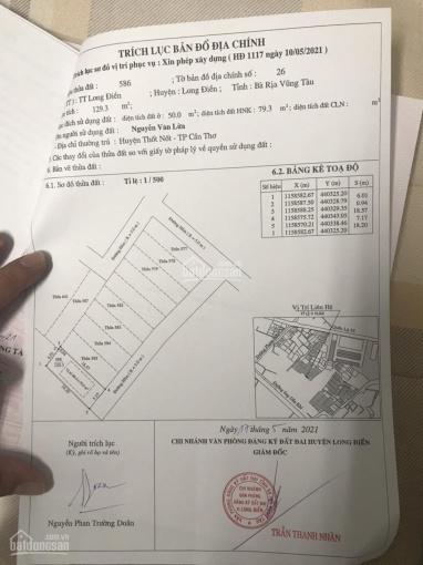 Cần bán lô đất thổ cư khu tái định cư Cây Quéo - Quốc Lộ 55 - Long Điền - BRVT ảnh 0