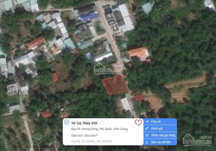 Bán lô đất trung tâm Dương Đông - diện tích 20x25m đồi cao view TP. Phú Quốc ảnh 0