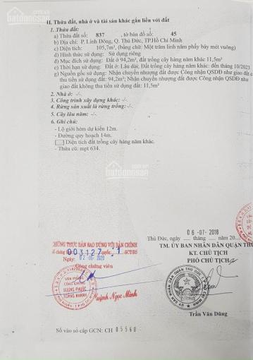 Ngợp bán gấp lô đất 106m2 mặt tiền đường 32, phường Linh Đông, quận Thủ Đức ảnh 0