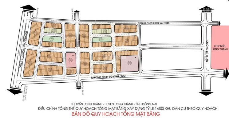 Duy nhất giá 30tr/m2 sở hữu lô đất Long Thành Pearl 100m2 , 4 mặt tiền đối diện chợ mới Long Thành ảnh 0