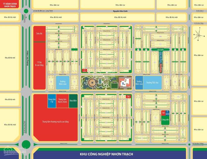 Bán đất trung tâm hành chính Nhơn Trạch giá chỉ 9 triệu/1m2 ảnh 0