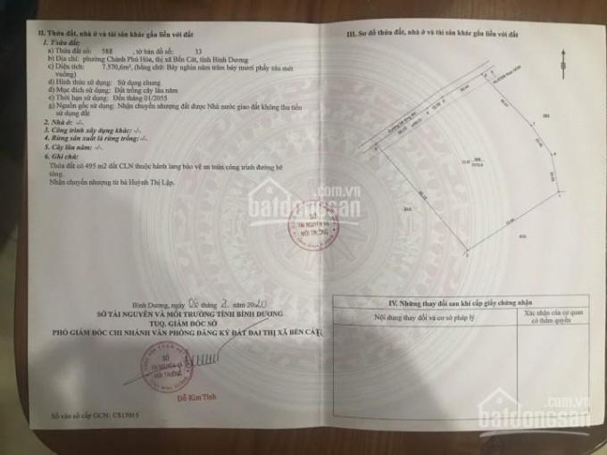 Bán đất kho xưởng đường xe tải Chánh Phú Hòa, Bến Cát, 7600m2, 13.9 tỷ ảnh 0