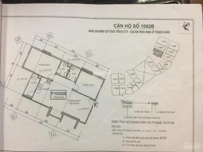 Bán căn hộ CC Thạch Bàn, 73m2, ban công Đông Nam, sổ hồng, LH: Ms Thuỳ: 0989.030.357 ảnh 0