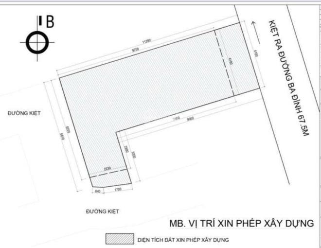 Bán đất kiệt Ba Đình - P. Thạch Thang - Q. Hải Châu 52.5m2, 2.55 tỷ ảnh 0