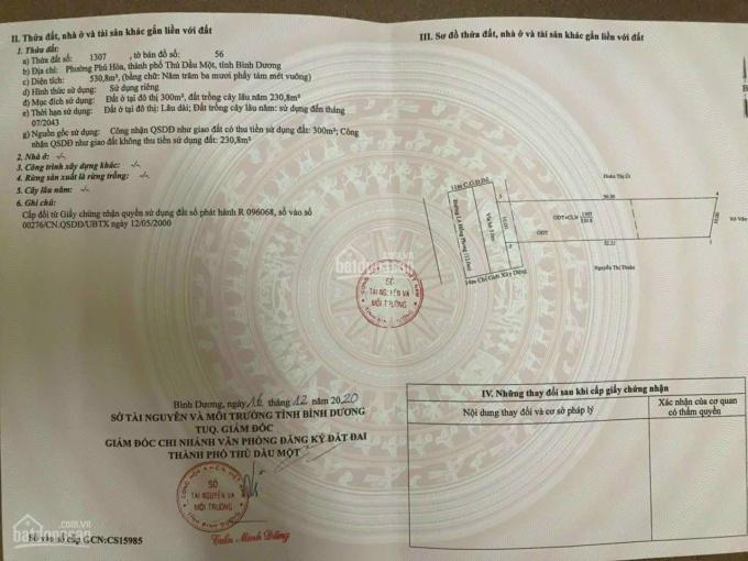 Chính chủ bán đất mặt tiền Lê Hồng Phong, Phú Hòa, TDM, Bình Dương. Giá đầu tư siêu rẻ ảnh 0