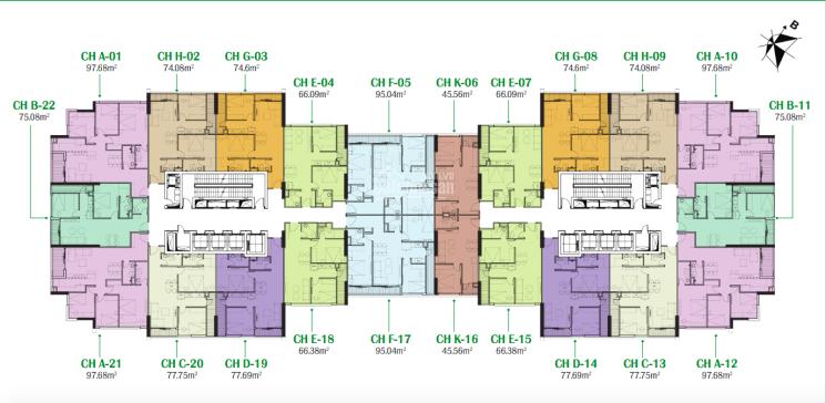 Cần bán căn hộ chung cư Eco Dream, căn 1615, DT 66,38m2, B/C ĐN, giá 2,05 tỷ, LH 0916 419 028 ảnh 0