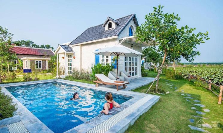 Biệt thự khoáng nóng phía Tây Hà Nội Vườn Vua Resort & Villas, giá 4,5 tỷ full nội thất ảnh 0