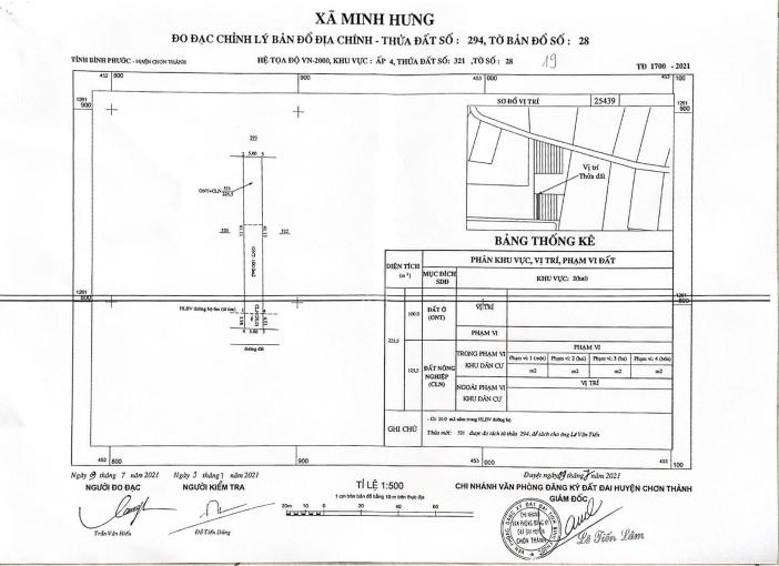 Nhánh Cao Bá Quát cách 100m thuộc ấp 4 Minh Hưng, 5x45x100m2 thổ cư, giá 820tr, sổ sẵn, 0919949167 ảnh 0