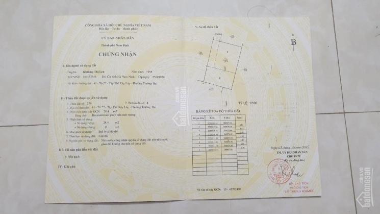 Chính chủ bán nhà tại 323 Giải Phóng, TP Nam Định ảnh 0