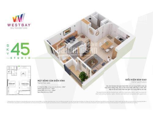 Bán căn hộ 45m2 tầng trung, view hồ thiên nga, vịnh aquabay, nhà nguyên bản giá 1,25 tỷ, 0328920737 ảnh 0