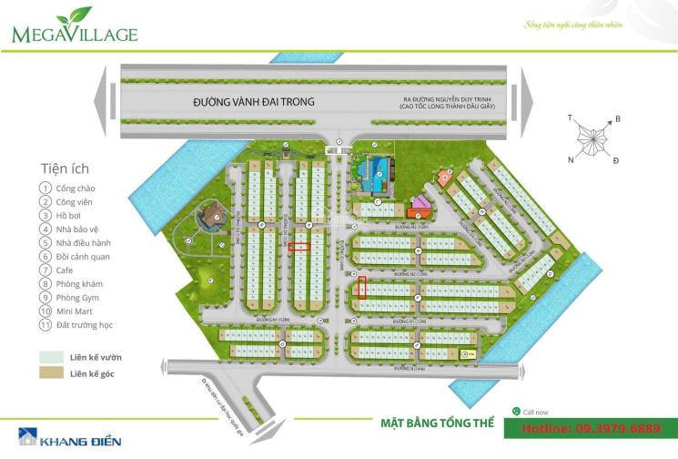 Nhà thô Mega Village 5x15m 5tr/tháng, hoặc bán giá 5,9tỷ hướng đông nam ảnh 0