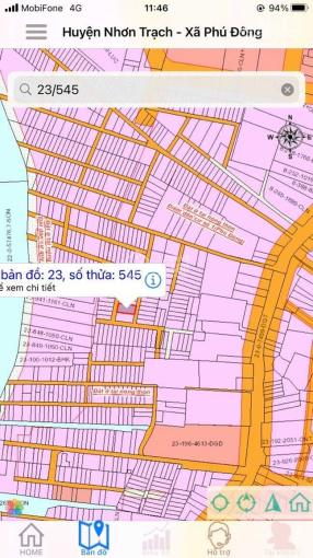 Đất Nhơn Trạch 200m2 full thổ, 2 mặt tiền, xã Phú Đông ảnh 0