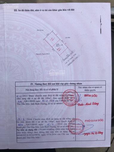 Chính chủ bán đất nền trong KDC đường Phạm Ngọc Thạch gần QL13, DT 10x25,4m ảnh 0